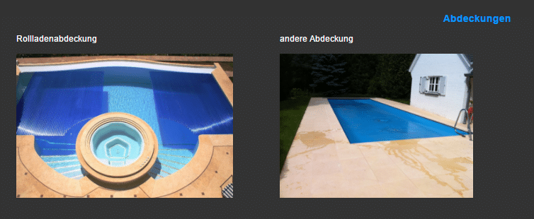 Schwimmbadhallen  mit Überlaufrinne